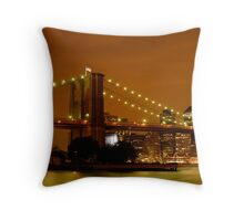 Fiery New York City Throw Pillow
