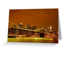 Fiery Sky over New York City Greeting Card