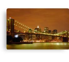 Sunset over New York City Canvas Print