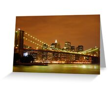 Sunset over New York City Greeting Card