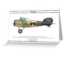 Albatros D.V Jasta 12 - 3 Greeting Card