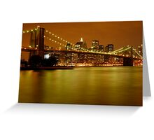 New York City Skyline at Dusk Greeting Card