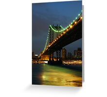 Subtle Night Sky Over New York Greeting Card