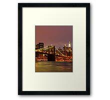 Evening Sky New York Framed Print