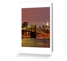 Evening Sky New York Greeting Card