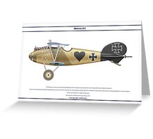 Albatros D.V Jasta 16b - 3 Greeting Card