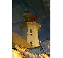Light house reflected...... Photographic Print