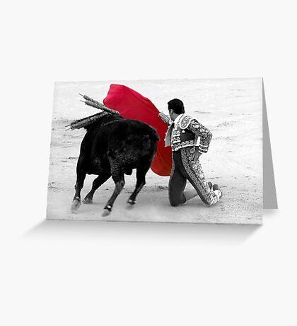 Matador and Bull. 1 Greeting Card