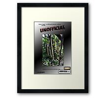 Draft Unofficial© Cover Framed Print