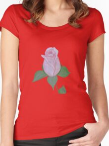 A Coral Rose Women's Fitted Scoop T-Shirt
