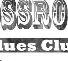 Crossroads Blues Club Logo Shirt Sticker