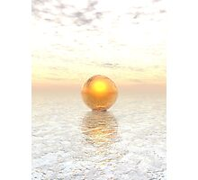 Frozen Gold Photographic Print