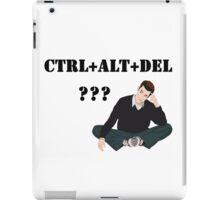 Computer! Ctrl+Alt+Del! Humor! iPad Case/Skin