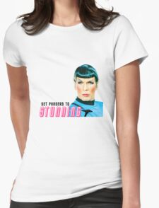Set phasers to stunning, Mr. Spock Womens Fitted T-Shirt