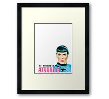 Set phasers to stunning, Mr. Spock Framed Print