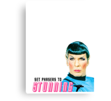 Set phasers to stunning, Mr. Spock Canvas Print