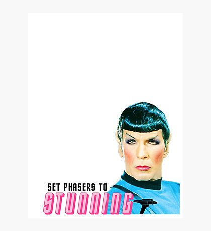 Set phasers to stunning, Mr. Spock Photographic Print