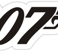 007 James Bond Sticker