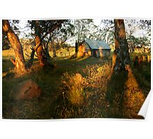 First Rays, Howitt Hut Victorian High Plains Poster