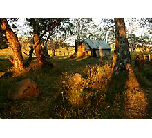 First Rays, Howitt Hut Victorian High Plains Photographic Print