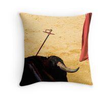 Bull, Sword and Muleta. Throw Pillow
