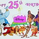 Happy 25th Birthday Disney by Celinda