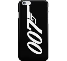 007 James Bond White and black iPhone Case/Skin