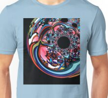 Rose contemporary abstract art red black floral design Unisex T-Shirt