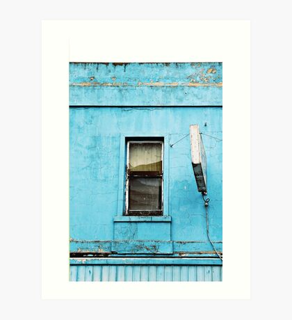 Window on Blue Art Print