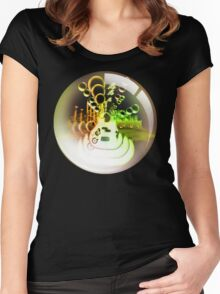 bass bubble Women's Fitted Scoop T-Shirt