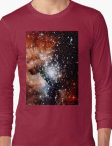 Red Galaxy Long Sleeve T-Shirt