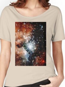 Red Galaxy Women's Relaxed Fit T-Shirt