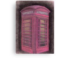 Red british phone booth Canvas Print