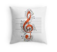 The Sight of Music Throw Pillow