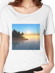 Tropical island Women's Relaxed Fit T-Shirt