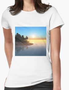 Tropical island Womens Fitted T-Shirt