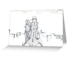 old skool love Greeting Card