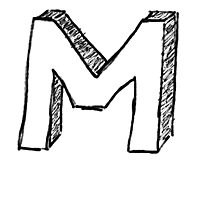 "Doodle - The Mighty ""M"" Photographic Print"