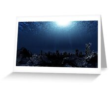 Underwater city Greeting Card