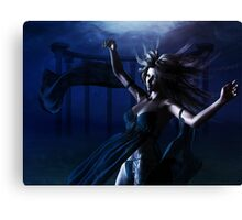 Woman under water Canvas Print