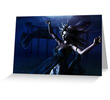 Woman under water Greeting Card