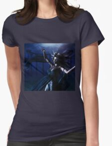 Woman under water Womens Fitted T-Shirt