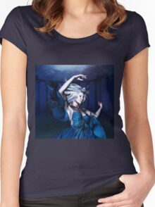 Woman under water 2 Women's Fitted Scoop T-Shirt