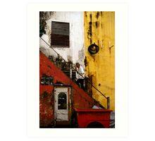 Stair way in Saigon Art Print