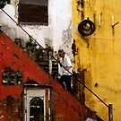 Stair way in Saigon by Daniel Spruce