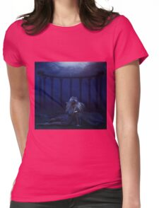 Woman under water 4 Womens Fitted T-Shirt