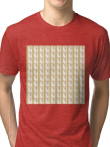 Green Stripes and Tulips Tri-blend T-Shirt