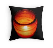 Dying Flame Throw Pillow