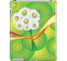 Chamomile with yellow and red ribbon iPad Case/Skin