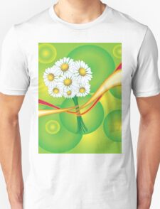 Chamomile with yellow and red ribbon T-Shirt